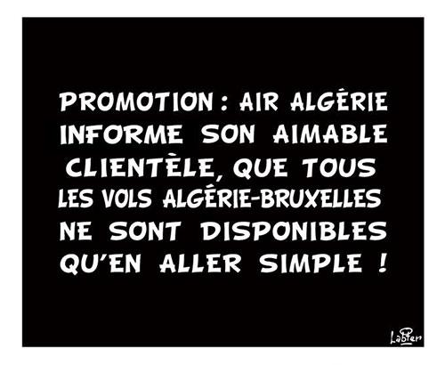 Promotion Air Algérie – Algerie-Bruxelles