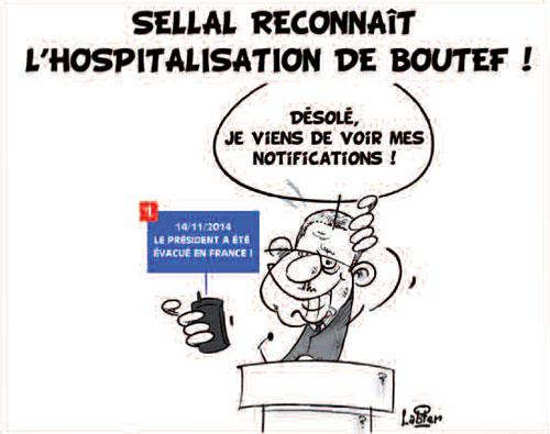 Sellal reconnait l'hospitalisation de Boutef - Vitamine - Le Soir d'Algérie - Gagdz.com