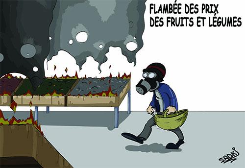 Flambée des prix des fruits et légumes - Dilem - Liberté - Gagdz.com