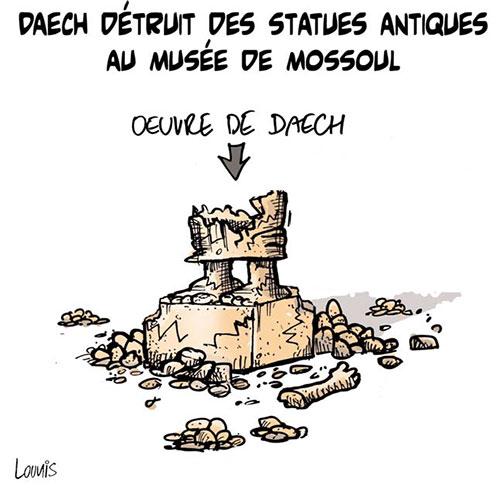 Daech détruit des statues antiques au musée de Moussoul - Lounis Le jour d'Algérie - Gagdz.com