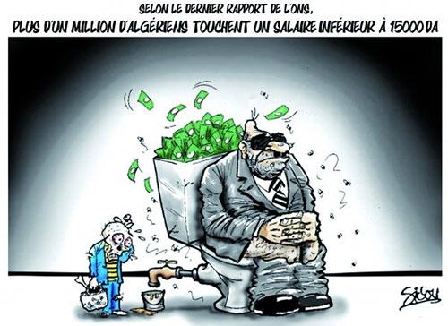 Selon le dernier rapport de l'ons: Plus d'un millions d'algériens touchent un salaire inférieur à 15000 da - Sidou - Gagdz.com
