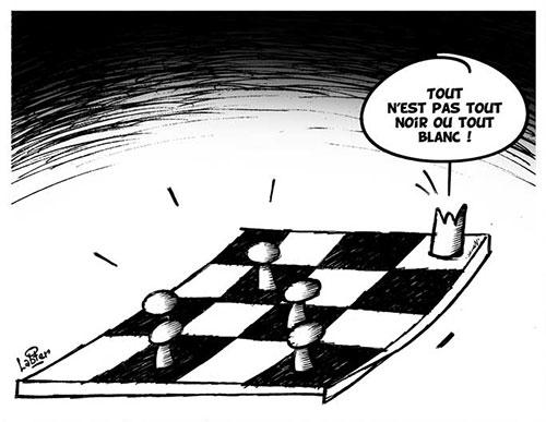 Tout n'est pas tout noir ou tout blanc