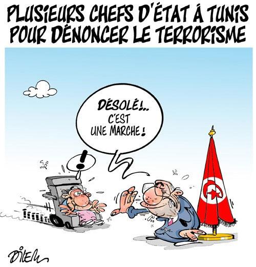 Plusieurs chefs d'état à Tunis pour dénoncer le terrorisme