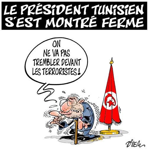 Le président tunisien s'est montré ferme