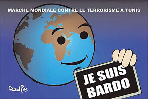 Marche mondiale contre le terrorisme à Tunis - Ghir Hak - Les Débats - Gagdz.com