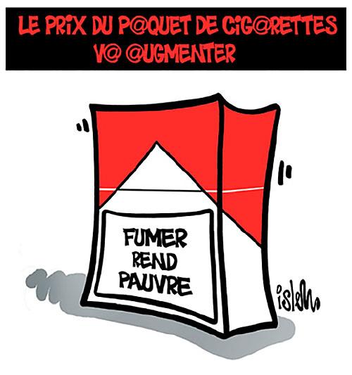 le prix du paquet de cigarettes va augmenter caricatures et humour. Black Bedroom Furniture Sets. Home Design Ideas