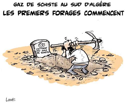 Gaz de schiste au sud d'Algérie: Les premiers forages commencent - Lounis Le jour d'Algérie - Gagdz.com