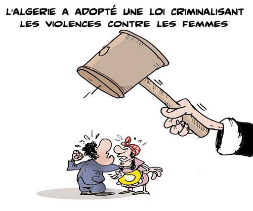 l'Algérie a adopté une loi criminalisant les violences contre les femmes - Lounis Le jour d'Algérie - Gagdz.com