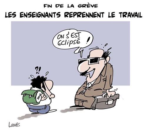 Fin de la grève: Les enseignants reprennent le travail - Lounis Le jour d'Algérie - Gagdz.com
