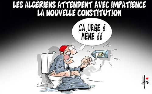 Les Algériens attendent avec impatience la nouvelle constitution - Le Hic - El Watan - Gagdz.com