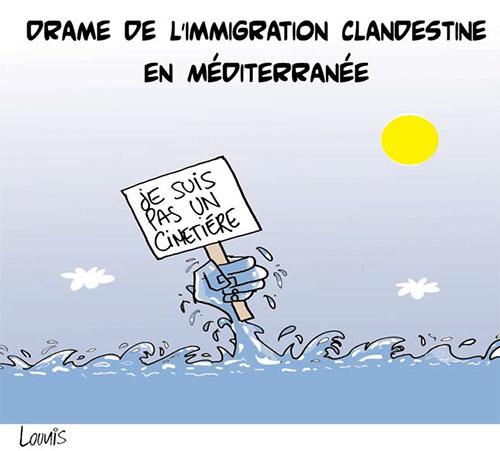 Drame de l'immigration clandestine en méditerranée - Lounis Le jour d'Algérie - Gagdz.com
