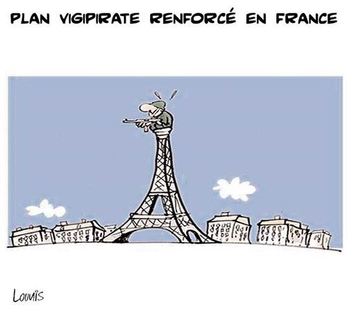 Plan vigipirate renforcé en France - Lounis Le jour d'Algérie - Gagdz.com