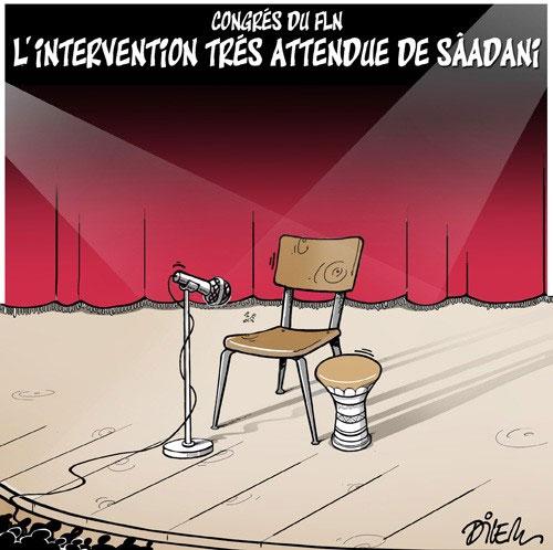 Congrés du FLN: L'intervention très attendue de Sâadani - Dilem - Liberté - Gagdz.com