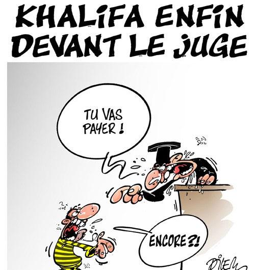 Khalifa enfin devant le juge