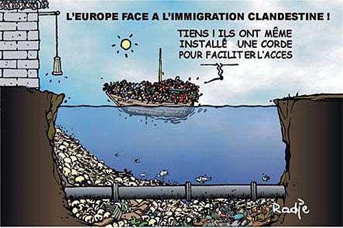 L'Europe face à l'immigration clandéstine - Ghir Hak - Les Débats - Gagdz.com