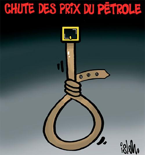 Chute des prix du pétrole