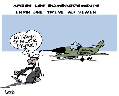Après les bombardements, enfin une trève au Yemen - Lounis Le jour d'Algérie - Gagdz.com