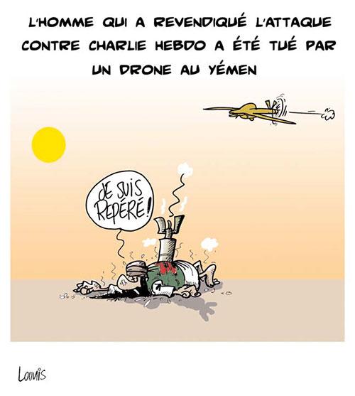 L'homme qui a revendiqué l'attaque contre CHarlie Hebdo a été tué par un drone au Yémen
