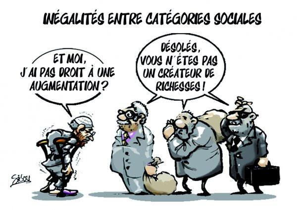 Inégalités entre catégories sociales