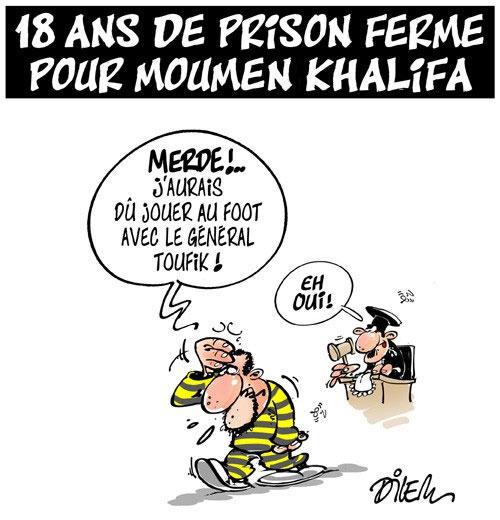 18 ans de prison ferme pour Moumen Khalifa