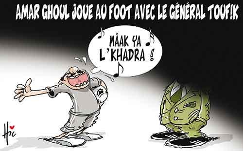 Amar Ghoul joue au foot avec le général Toufik - Le Hic - El Watan - Gagdz.com
