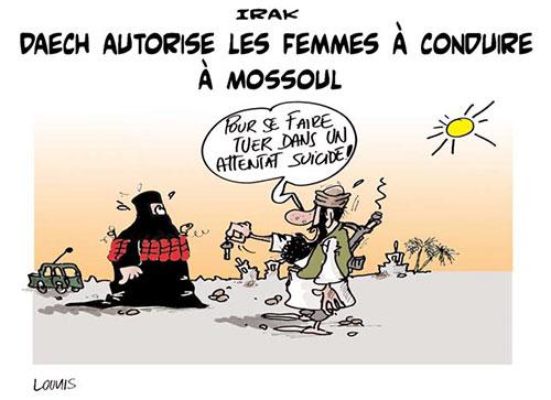 Irak: Daech autorise les femmes à conduire à Mossoul - Lounis Le jour d'Algérie - Gagdz.com