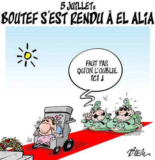 5 juillet: Boutef s'est rendu à El Alia