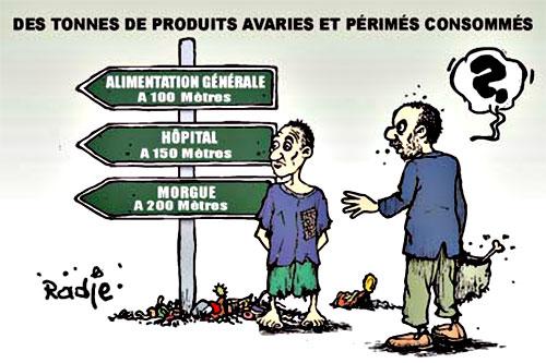 Des tonnes de produits avariés et périmés consommés - Ghir Hak - Les Débats - Gagdz.com