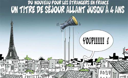 Du nouveau pour les étrangers en France: Un titre de séjour allant jusqu'a 4 ans