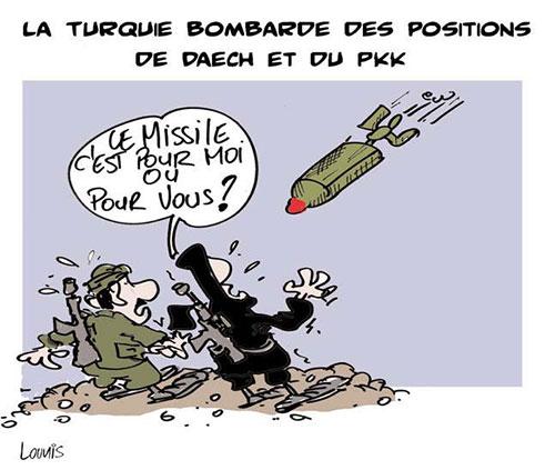 La Turquie bombarde des positions de daech et du pkk - Lounis Le jour d'Algérie - Gagdz.com