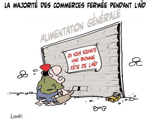 La majorité des commerces fermée pendant l'aïd - Lounis Le jour d'Algérie - Gagdz.com