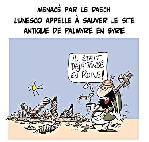 Menacé par daech: L'unesco appelle à sauver le site antique de Palmyre en Syrie - Lounis Le jour d'Algérie - Gagdz.com
