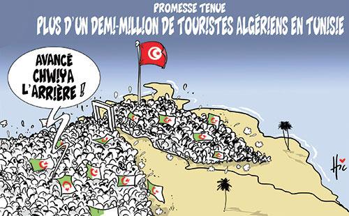 Image result for nombres de touristes algerien en tunisie 2016 a la frontiere algero-tunisienne