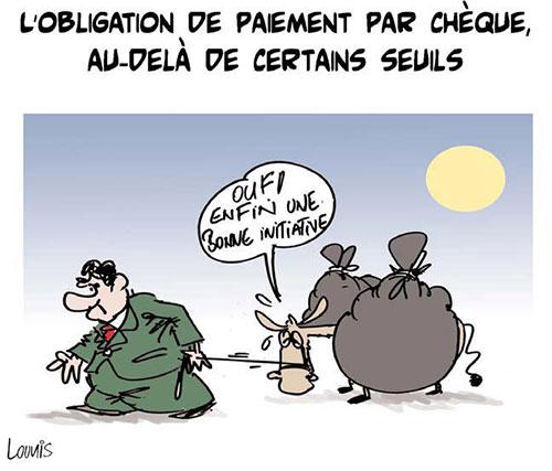 L'obligation de paiement par chèque au-delà de certains seuils - Lounis Le jour d'Algérie - Gagdz.com