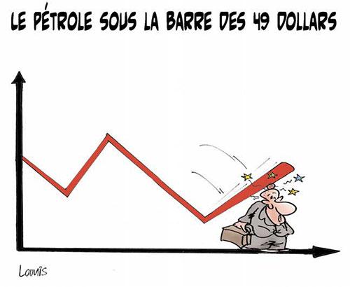 Le pétrole sous la barre des 49 dollars - Lounis Le jour d'Algérie - Gagdz.com