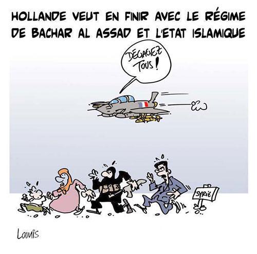 Hollande veut en finir avec le régime de Bachar Al Assad et l'état islamique - Lounis Le jour d'Algérie - Gagdz.com