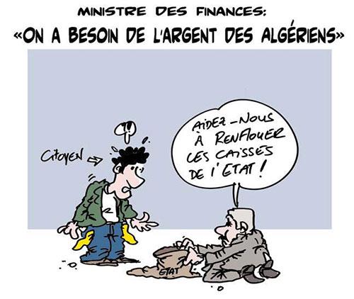 Ministre des finances: On a besoin de l'argent des algériens - Lounis Le jour d'Algérie - Gagdz.com