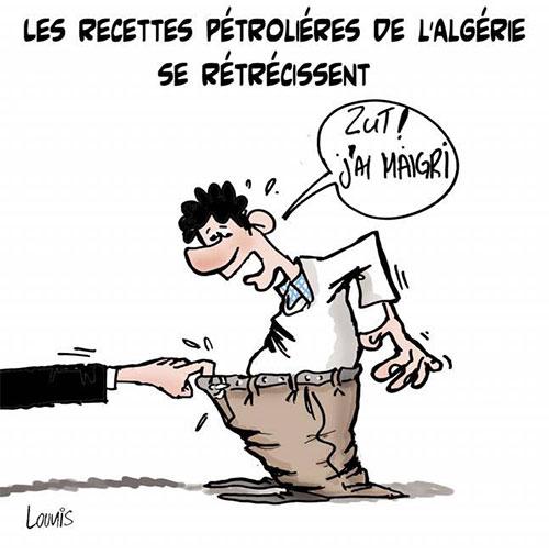 Les recettes pétroliéres de l'Algérie se rétrécissent