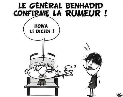 Le général Benhadid confirme la rumeur