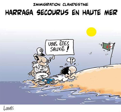 Immigration clandestine: Harraga secourus en haute mer - Lounis Le jour d'Algérie - Gagdz.com