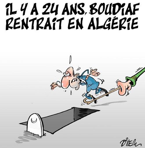 Il y a 24 ans Boudiaf rentrait en Algérie
