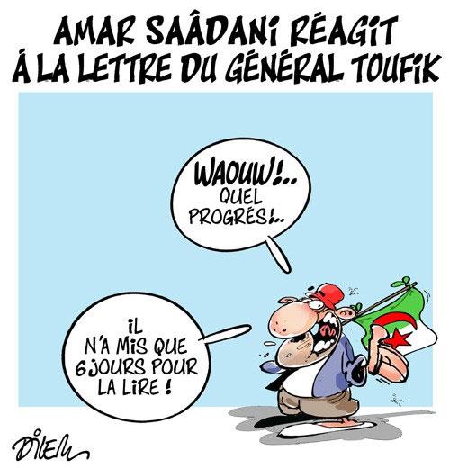 Amar Saâdani réagit à la lettre du général Toufik