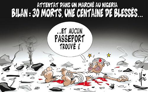 Attentat dans un marché au Nigeria – Bilan: 30 morts, une centaines de blessés