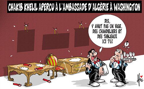 Chakib Khelil aperçu à l'ambassade d'Algérie à Washington