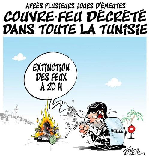 Après plusieurs jours d'émeutes: Couvre-feu décrété dans toute la Tunisie
