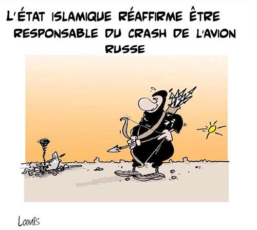 L'état islamique réaffirme être responsable du crash de l'avion russe - Lounis Le jour d'Algérie - Gagdz.com