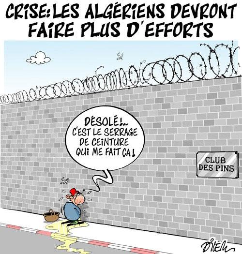 Crise: Les Algériens devront faire plus d'efforts