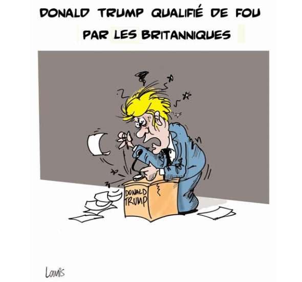 Donald Trump qualifié de fou par les britaniques