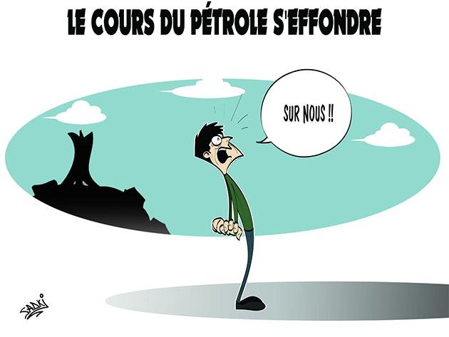 Le cours du pétrole s'éffondre