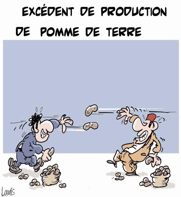 Excédent de production de pomme de terre